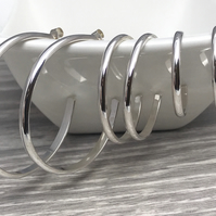 Sterling Silver Classic Hoop Earrings