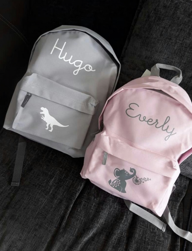 Personalised backpack in faux leather and liberty gift birth creche kindergarten child baby return