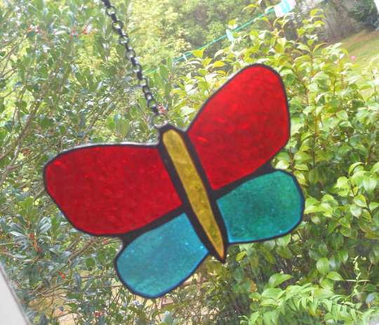 Butterfly Suncatcher - various colours stained glass