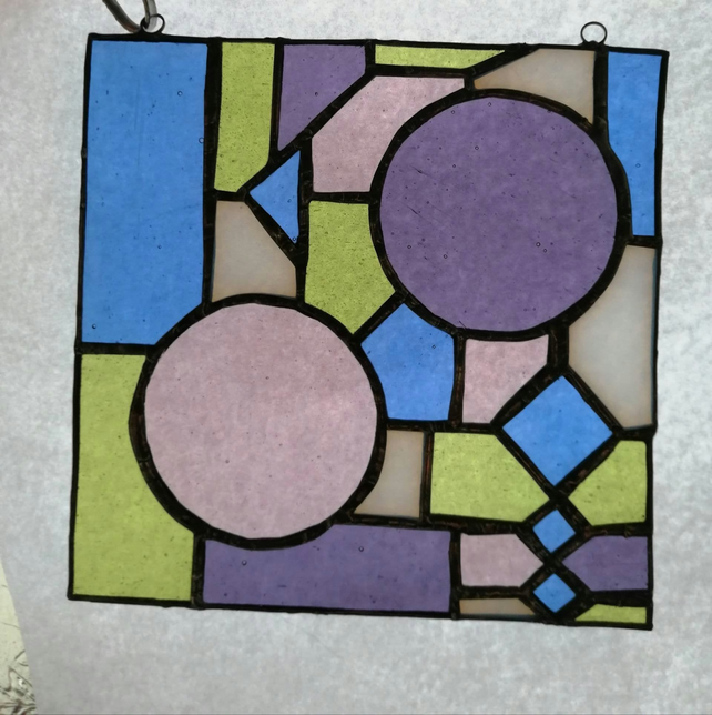 Stained glass abstract geometric pattern