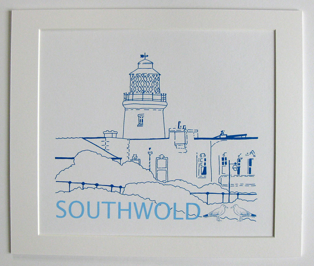 Southwold Lighthouse Hand Screen Print