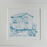 Walberswick Ferry Hut Screen Print