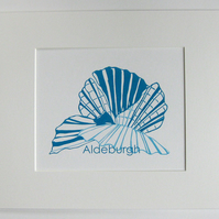 Aldeburgh Shell hand screen print