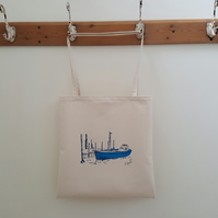Ferry Boat Organic Cotton Tote Bag