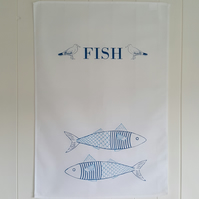 Fish in jumper tea towel