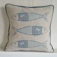 Fish in a Jumper Cushion