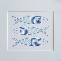 Fish in a Jumper Hand Screen Print