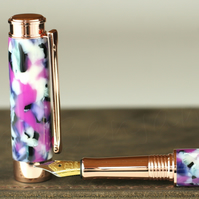 Handmade British Conway Stewart Light Orchid Bodied Leveche Fountain Pen