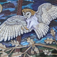 'Barn Owl Alighting' Limited Edition Print