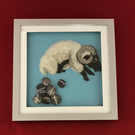 Needlefelted Clumsy Sheep