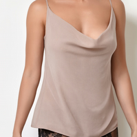 Millesime Camisole Tank Top Cami Top, Sleepwear Silk Cami, Ladies Sleeveless