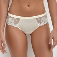 Millesime Ivory Sexy Panties Lace Briefs, Sexy Lingerie, Lace Knickers
