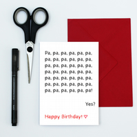 funny birthday card for pa - toddler pa card - cute card