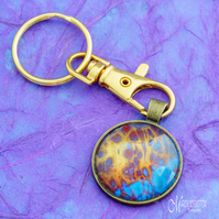 Cool Fire 2 Fluid Art Keyring