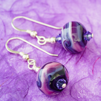 Purple & Lilac Swirl Earrings