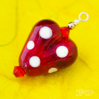 Red Spotty Heart Pendant
