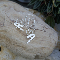 Unusual Handmade Silver earrings