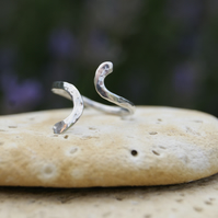 Midi Ring or Toe Ring handmade Sterling Silver