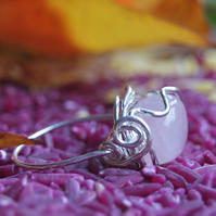 Rose Quartz and Sterling Silver Ring - Made to Order