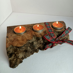 Elm Burr Candle Holder