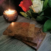 Elm Burr Wooden Coasters