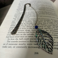 Bookmark with leaf