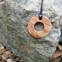 pendant wooden circle handmade jewellery