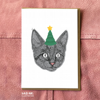 Cat Christmas Cards Pack - Multipack Christmas Cards
