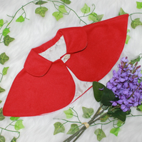 Beautiful Girls Red Wool and silk capelet age 1-2-3 years