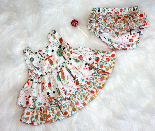 31b4c2e9b Beautiful baby girl dress and frilly nappy cov... - Folksy