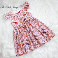 Gorgeous Girls Pink  Flower Fairy Dress age 5-6