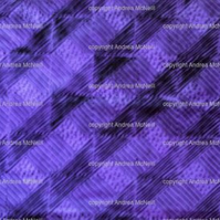Large sheet of violet tissue paper handprinted with abstract design