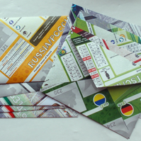 Ten UEFA football sticker album envelopes