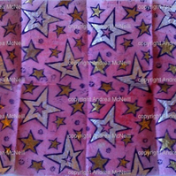 Sheet of tissue paper with linoprinted stars