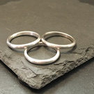 Sterling silver plain stacking ring