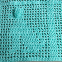 Puppy Bog Filet Crochet Baby Blanket Pattern
