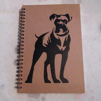 Boxer Dog A5 Lined Notebook Journal - Dog Lover - Christmas, Birthday, Gift.