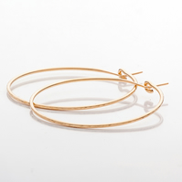 Handmade Gold Filled Medium Hoop Earrings