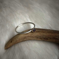 Silver And 9ct Gold Custom Stone Ring
