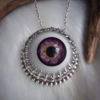 Sterling Silver Eye Necklace