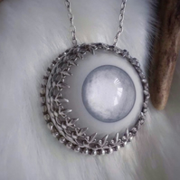 Sterling Silver Ice Queen Eye Necklace