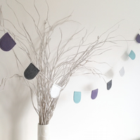 Mini Curved Bunting - Nursery decor - Wall hanging - Kids room garland
