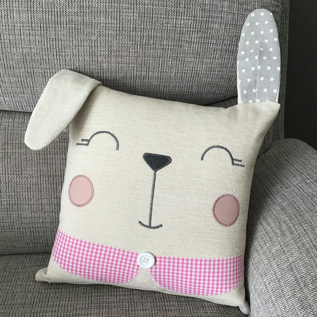 Reading Cushion - FLOPSY BUNNY - Kids reading buddy - Child's room decor