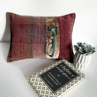 Reading Cushion - GLASSES - Reading Accessory - Book Rest - Gift for Book Lover