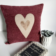 Reading Cushion - HEART - Reading Accessory - Book Rest - Gift for Book Lover