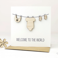 New Baby Washing Line Card