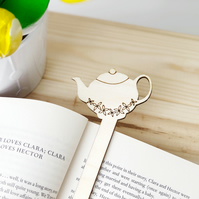 Wooden Teapot Bookmark