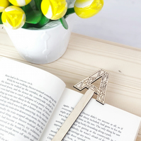 Wooden Initial Bookmark