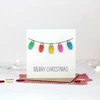Colourful Fairy Lights Card
