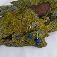 Lapis lazuli pendant earrings